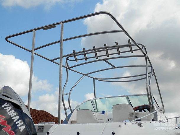 JAC Custom Stainless Steel Canopy Frame & Rod Holder