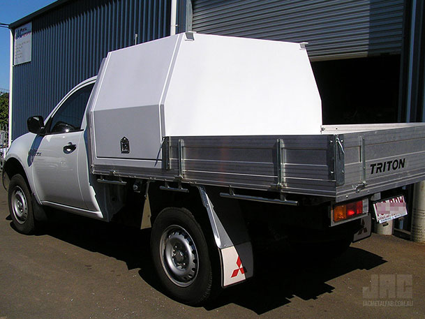 JAC Half Canopy fitted to a modified existing tray